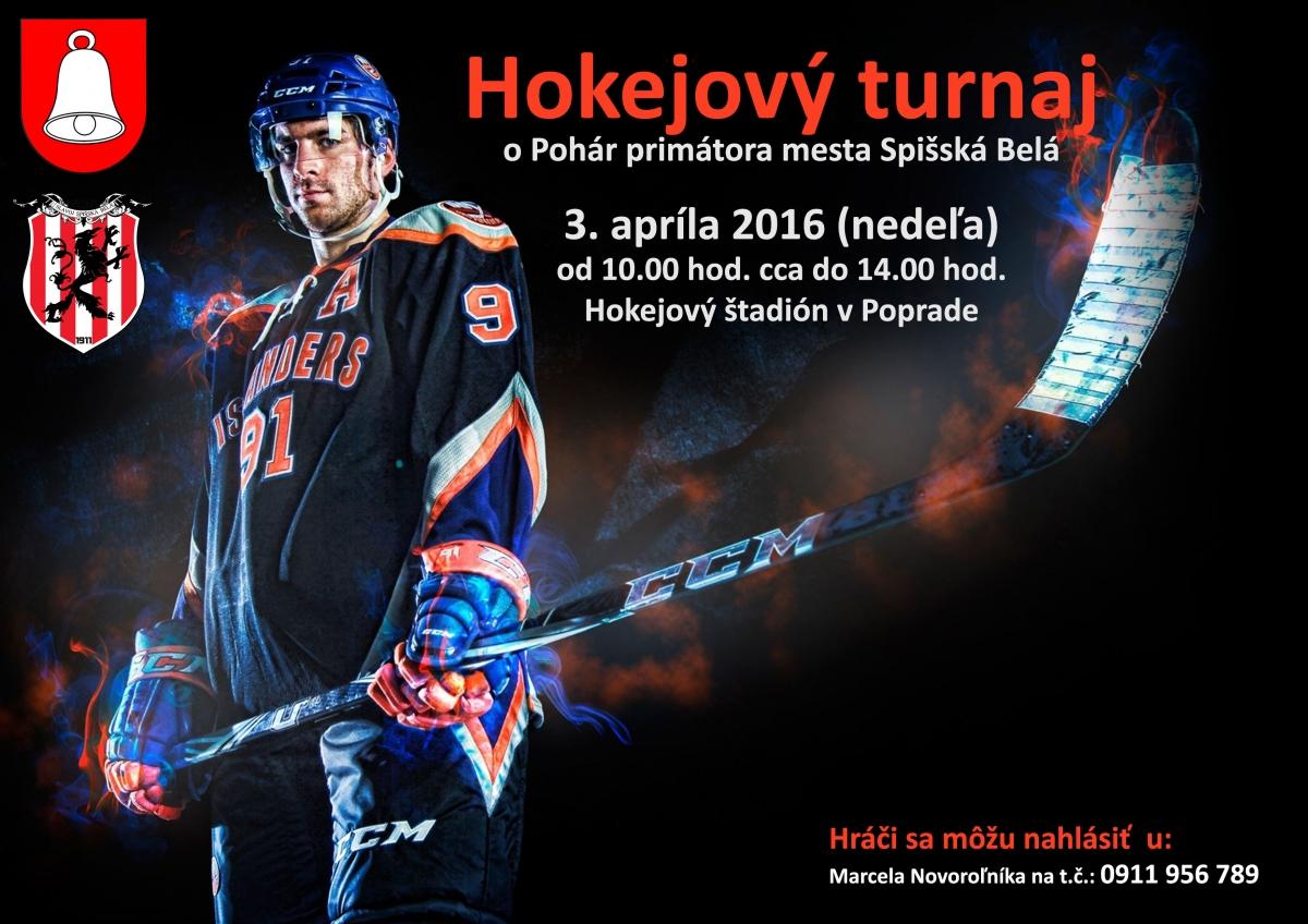 hokejový turnaj 2016 - plagát