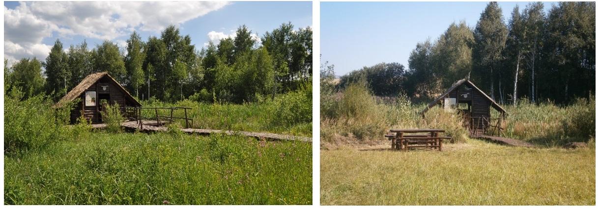 kolová stavba pred a po dobudovaní oddychového sedenia