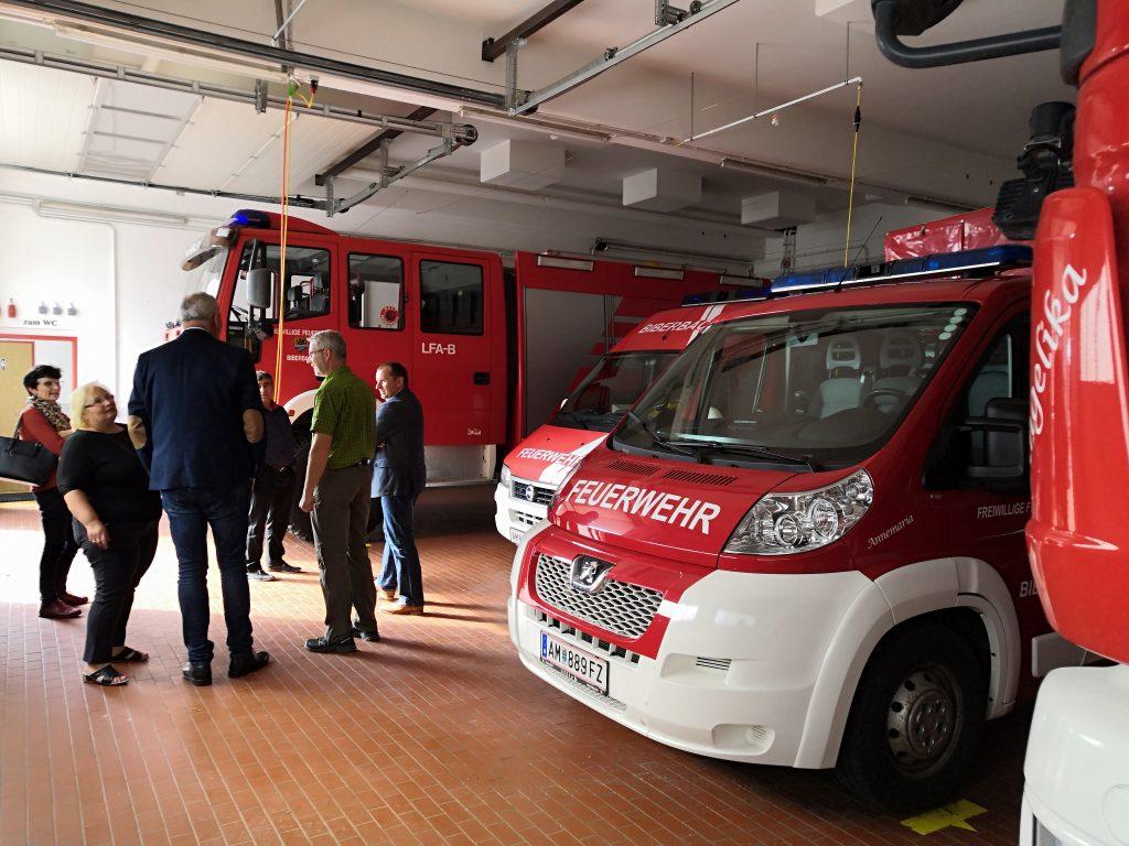 Hasičská zbrojnica dobrovoľných hasičov Biberbachu.