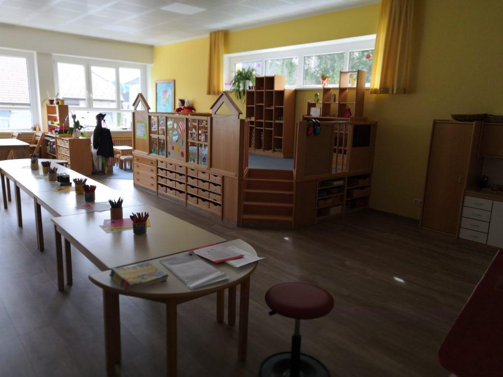 Interiér materskej školy v Biberbachu...