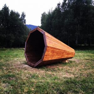 drevený megafón pri Prešove